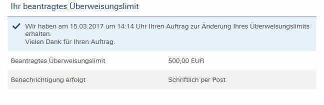 Überweisungslimit deutsche bank