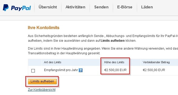 Paypal Limit Ohne Verifizierung